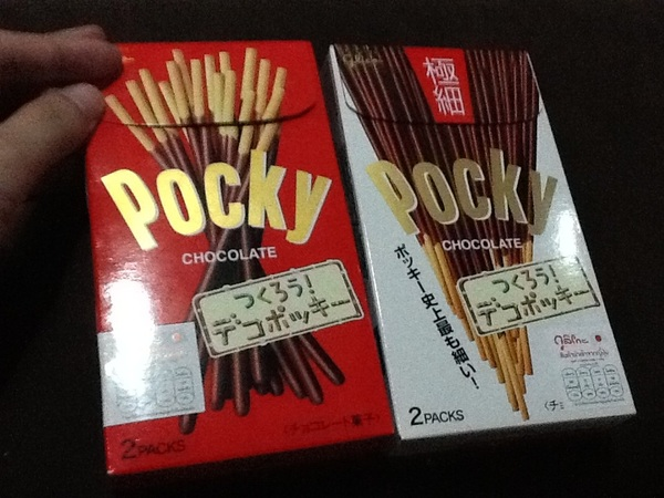 ป๊อกกี้ ญี่ปุ่น 2 กล่องนี้มันต่างกันไงหว่า กล่องขาวกับกล่องแดง