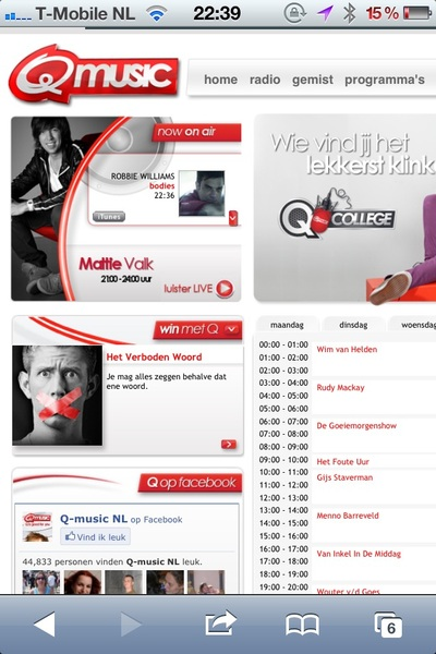 Nog niet bevestigd, dus een vuige roddel, maar het staat al wel op de site; Gaat Rudy Mackay naar @QmusicNL ? #radio
