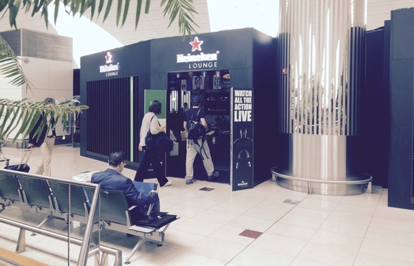 .@Heineken Pop-Up City Lounge @DubaiAirports.  @LOCO_Inn @robgwhitaker. #OpenYourWorld