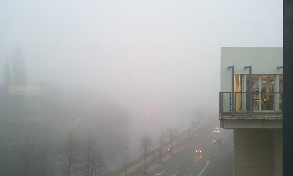 Straks de #gps maar aan op de fiets... #mist