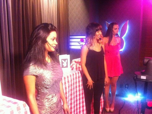 Speed-dating with @BrodyismeFriend! Models @Michelleleslie0, @Kimberly_Kisse, and @RealKDanielle are ready to impress!
