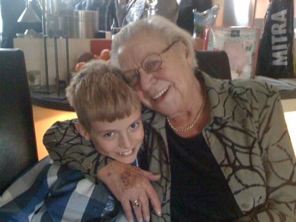 Grandma's birthday, she turned 83!