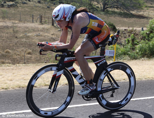 Amy Marsh in action in Kona #Ironman #IMKona