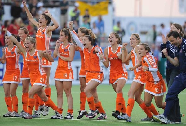 Spanning maar vooral vreugde na het bereiken van de finale!