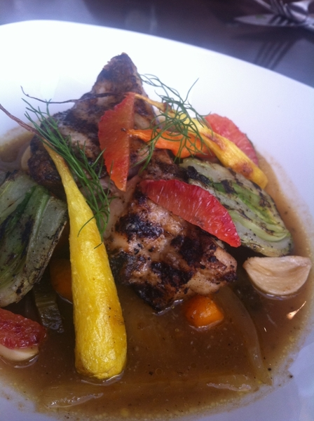 Working w/ Chef Armando Martinez on new menu items 4 Red O in LA. Red fish w/ Yucatecan escabeche, rstd local veg