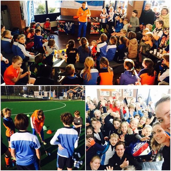 Wat een heerlijke weertje voor een top clinic vandaag op #svphoenix 👌☀️#mlhockeysupport