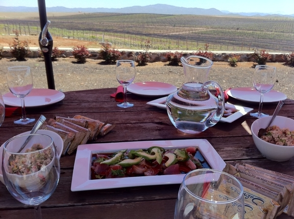 San Rafael Winery: Hussong family hosted PERFECT crew lunch overlooking vineyards. Last shooting day:wine 4 lunch!