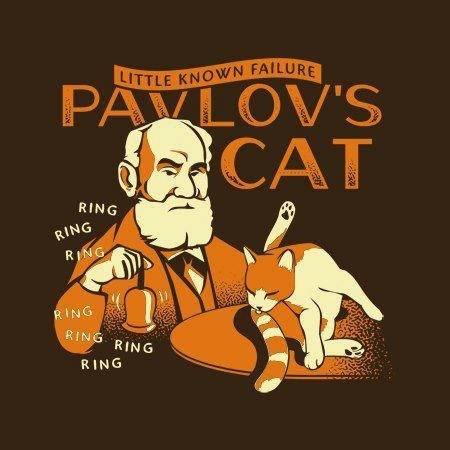 Before Pavlov perfected his experiment on his dog, he first tried it on his cat. Here's the result: