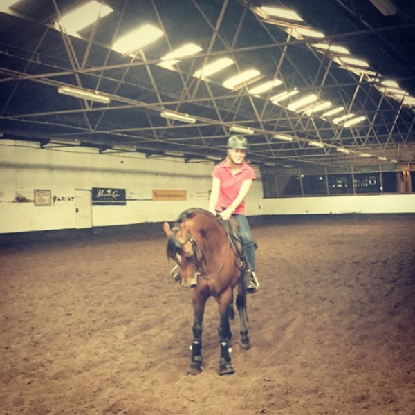 This afternoon! We're riding @ NK Reining in Schijndel! Are you coming to watch me? Free entrance #para #reining