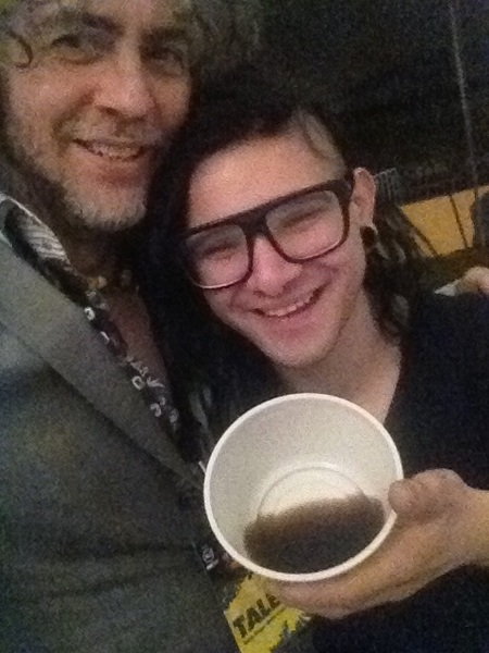 A bowl of whiskey!!! Hangin with Skrillex!!