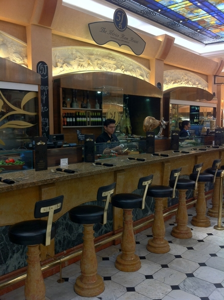 Harrod's Food Halls: up with times: put in jamón ibérico counter with nice wine and tapas
