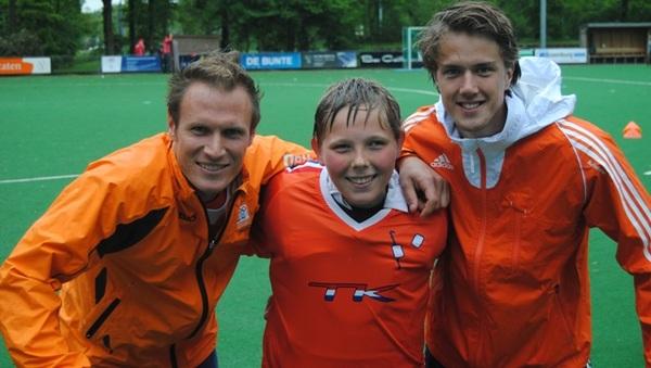Oranjekeepers @PirminBlaak en Sam van der Ven #samenmet keeper @JesseKluijtmans in het oranje