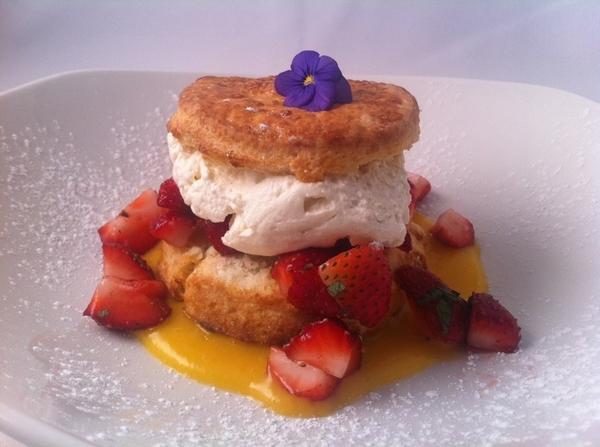New Frontera Menu Highlight #7: r classic strawberry shortcake:Klug Farm berries, Kalona organic cream,mojito mint