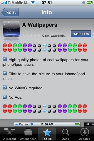 150 bucks for a wallpaper app? Why is this in the Dutch top downloads list? #itunes