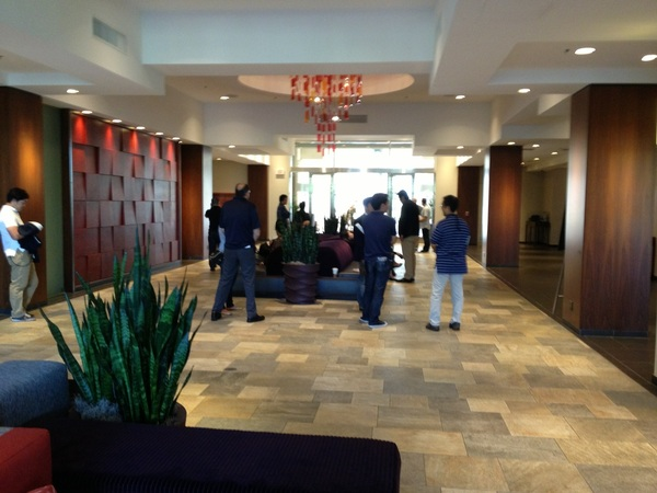 Thumbs up to the lobby where  I'll be spending the next 3 days at the GM meetings.