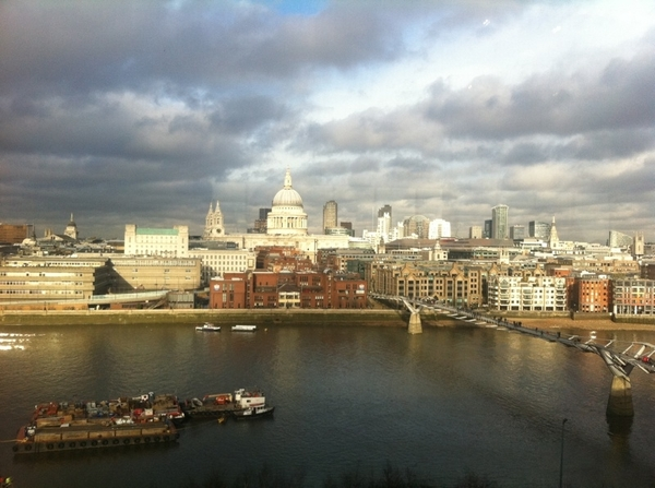 This is what we looked out on from the restaurant at the Tate Modern