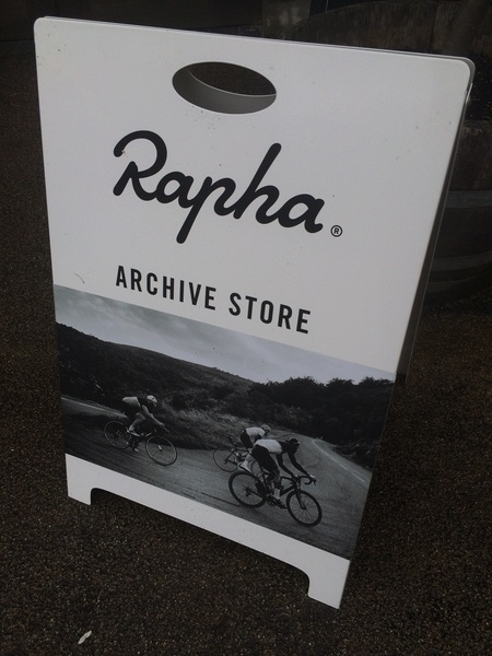 Reporting from brand new @Rapha #ArchiveStore @KilverCourt - opened y'day < .@newstores @StuHarris .@cycle_to_events