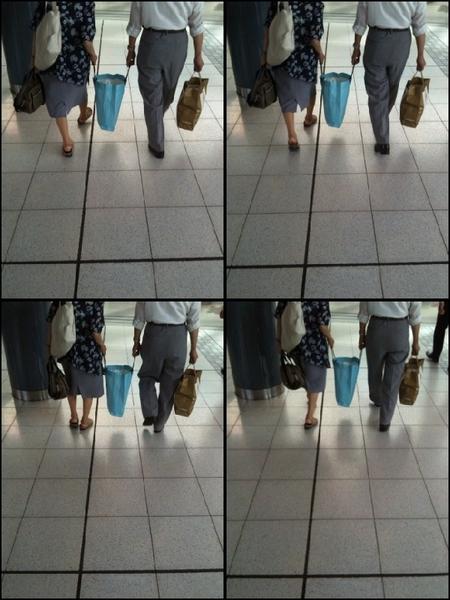 品川駅。ランチに向かってるとこで心が暖まる風景に引かれ撮ってしまった。 おじいさんとおばあさん。 仲良しで可愛かったです(^O^)/