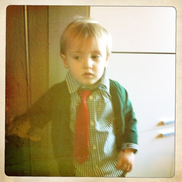 Fletcher of the day: Christmas outfit
