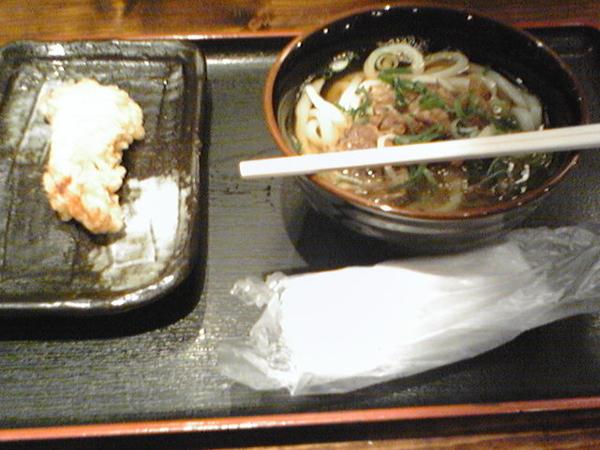 吉祥寺麺通団 肉うどん かしわ天ぷら