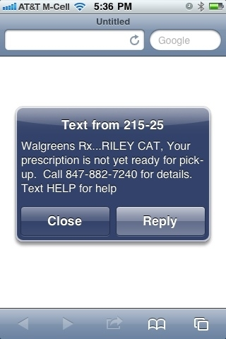Dear @SteveMartinToGo - if I can tweet my cat's prescription notification, you can tweet your ankle X-ray.