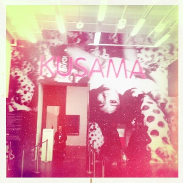 Entrance to the Kusama exhibit