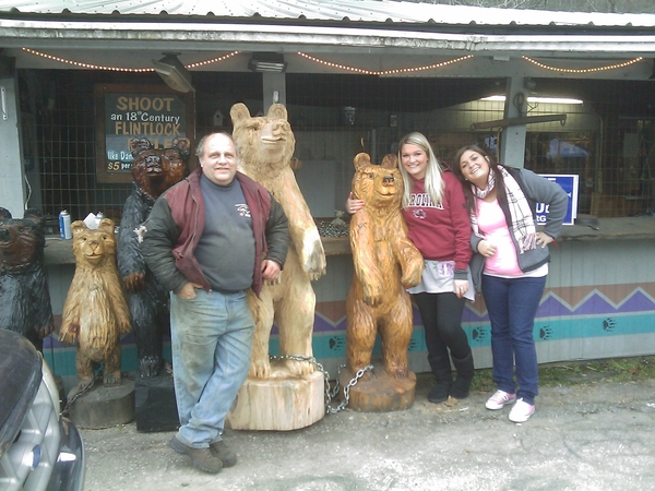 Big Bear Trading Post, Cleveland, SC. Chainsaw wood carving, you don't see that just anywhere!