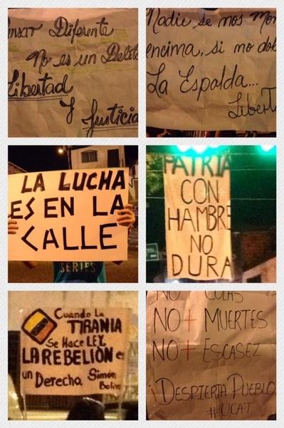 Protesta en San Cristóbal. El descontento crece!