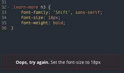 @AshwinvanDijk eerste vraag, ik moet font-size 18 in stellen. wth do ik fout?