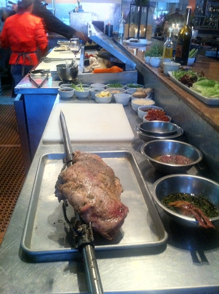 Spit-Roasting beautiful local lamb w Miguel Angel Guerrero at La Querencia