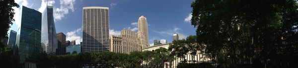 Tall buildings and Trees at Bryant Park