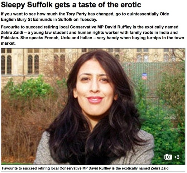 Mail attacks Zehra Zaidi #BuryStEdmunds