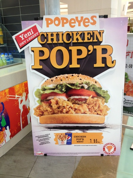 Popeye's at a Istanbul mall