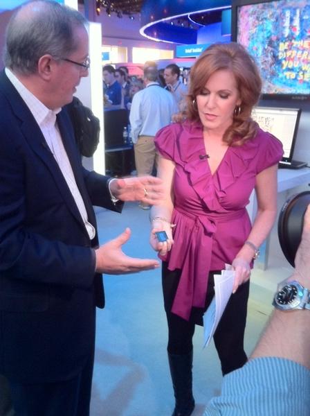 Celebrities at #CES 2011 -- Intel CEO Paul Otellini and Fox Business News Anchor Liz Clayman #2ndGen Core