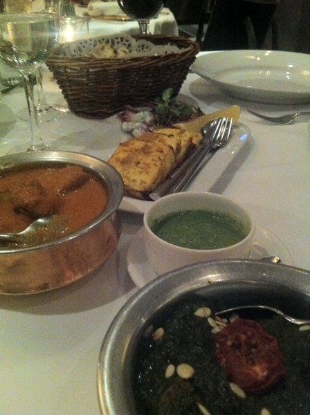 London 4 final days: food&theater. started w gr8 dinner @ Tamarind: chix crmy curry, lamb spinach, tandoor paneer