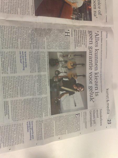 interview in Het Parool!