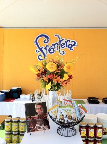 Our booth at Chicago Gourmet! Ready to start making tacos and guac