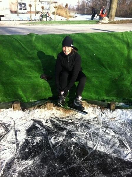 Klunen hoort er ook bij! #bloemendaalsepoldertocht #schaatsen