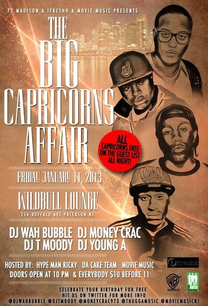 WILDBULL FRIDAY EVERY1 $10 B4 11 CAPRICORNS FREE ALL NIGHT MUSIC BY ME @DJTMOODY @MoneyCrac973 @DJYoungA