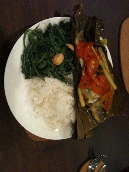 1st meal cooked by our maid