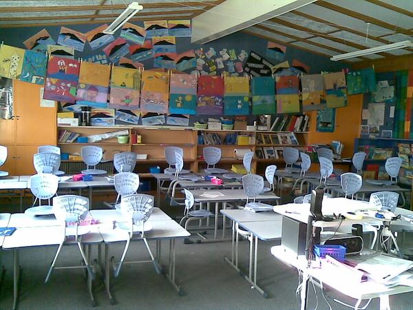 Empty classroom. TGIF