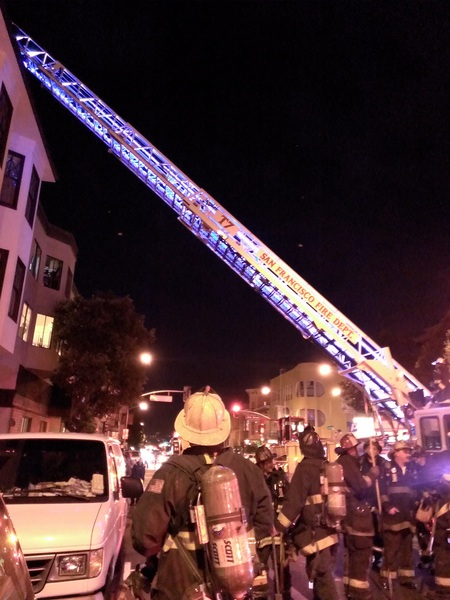 The Mission is on fire tonight! (False alarm...)