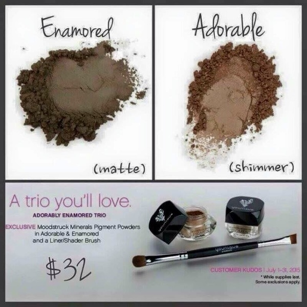 This months kudos with #Younique is awesome... two exclusive mineral pigment shadows & brush! Beautybykimmykat.com