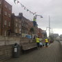 decorating the Liffey boardwalk for the Festival has begun. #spf09