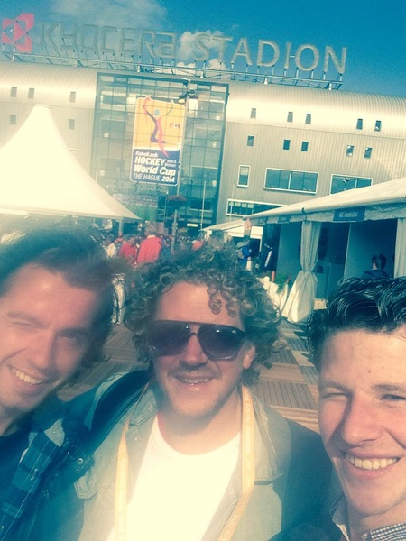 In Den Haag bij het WK Hockey #samenmet de mannen achter #samenmet #sportnext