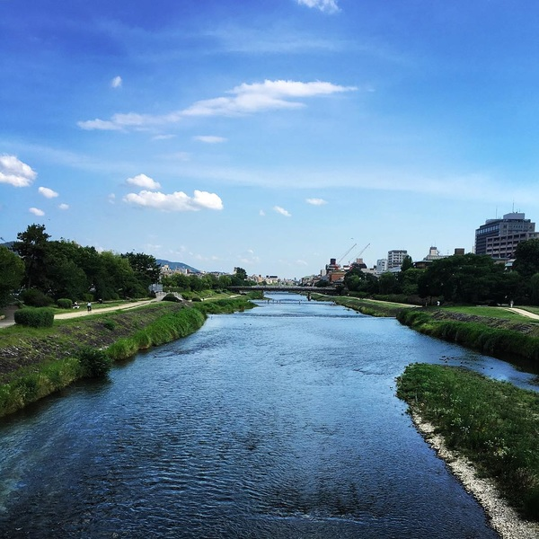 #kamogawa #river #kyoto #comingsoon #summer #sky #double #bule #memories #🎉 #cozy