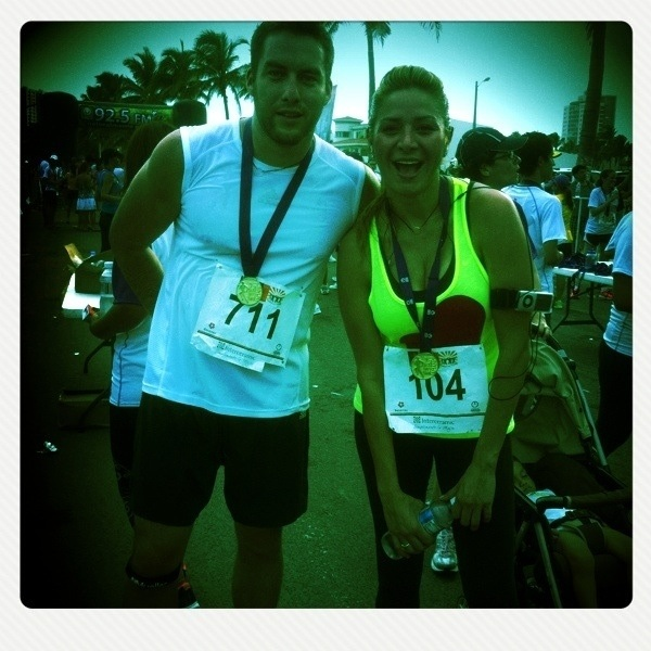 Pues si terminamos y bien ehh   Carrera 5km seg carrera iron manc con mi  @cristinaeustace  #rico
