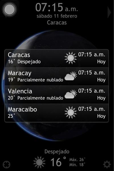 Pronostico del tiempo para #Caracas #Maracay #Valencia #Maracaibo