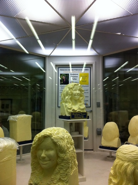 Road tripped to MN to visit fam. hit MN state fair while there. They carve heads out of butter