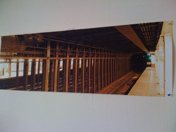 Check what I just found. A blowup of a picture I made from Canalstreet station, NYC.